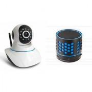 Zemini Wifi CCTV Camera and S10 Bluetooth Speaker for LG OPTIMUS L3(Wifi CCTV Camera with night vision |S10 Bluetooth Speaker)