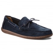 Мокасини CLARKS - Saltash Edge 261322607 Navy Suede