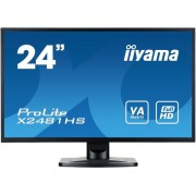 "Monitor VA LED iiyama 23.6"" ProLite X2481HS-B1, Full HD, HDMI, DVI-D, VGA, 6ms, Boxe (Negru)"