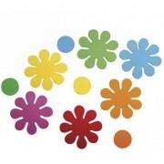 Rayher hobby materialen Knutsel foam rubber bloemen zelfklevend 80 st