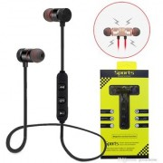 Wireless Magnetic In Ear Sports Bluetooth Earphone/Headset With Mic (Red/Black)