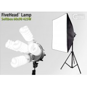 Lampa SOFTBOX światła ciągłego typu FiveHead 60x90cm, 5x85W, 280cm