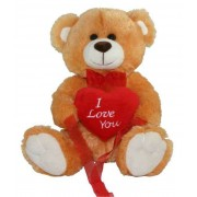 15 Inch Golden Teddy Bear holding I Love You Heart