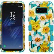 Funda Case Para Samsung S8 Doble Protector De Plástico Super Resistente TUFF Uso Rudo - Narcisos