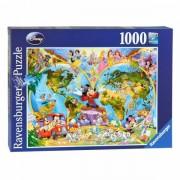 Lobbes Disney's Wereldkaart, 1000st.