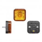 Lampa gabarit auto BestAutoVest 12/24V tip bec W5W, patrata, culoare Portocaliu, 64x64x30mm, 1buc