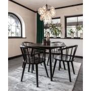 Nordiskarum Mossbo matbord med bullerbyn stolar svarta