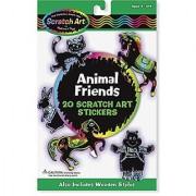 Melissa & Doug Scratch Art Sticker Kit - Animal Friends 20 Color-Reveal Stickers