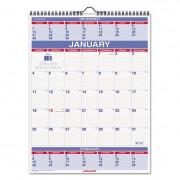 Three-Month Wall Calendar, 22 X 29, 2017