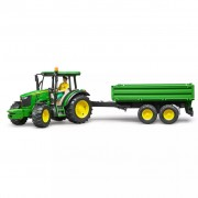 Bruder Tractor with Trailer John Deere 5115M 1:16 02108