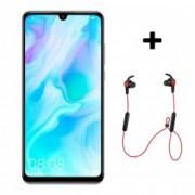 P30 Lite 128GB 4G Smartphone Pearl White + Bluetooth слушалки Sport Red