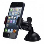 Držák telefonu do auta polohovatelný s přísavkou, Barva Černá