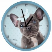 Hondenklok Franse Bulldog blauw 25 cm