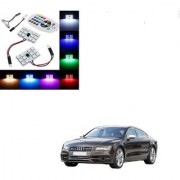 Auto Addict Car 12 LED RGB Roof Light with IR Remote Car Fancy Lights For Audi NA