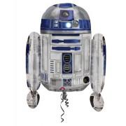 Vegaoo R2D2- Aluminiumballong från Star Wars 55 x 66 One-Size