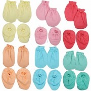 UNIVERSAL KIDS Organic Super Soft Mittens Booties Combo In Best Super Soft Quality ( Pack Of Two - Two Each )