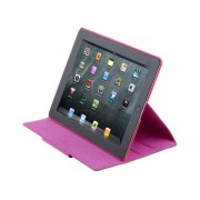 Crocodile Pattern Genuine Leather Case for iPad 2/3/4 - Apple Leather Flip Case (Pink)