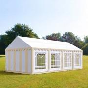 TOOLPORT Partytent 4x8m PVC 500 g/m² beige waterdicht Gartenzelt, Festzelt, Pavillon
