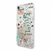 Husa Silicon Transparent Slim Love February Apple iPhone 6 PLUS 6S PLUS