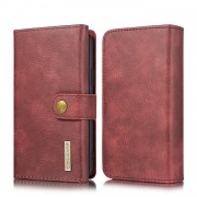 DG.MING Split Leather Stand Wallet Style Phone Case for iPhone 11 Pro 5.8 inch - Red
