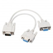 27cm VGA HDB15 (Male) to Dual Monitor (Female) Splitter Cable