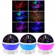 Lampa de Veghe cu Proiector Stele Rotativ 360 Star Master