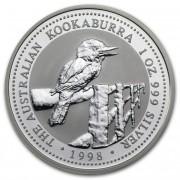 Kookaburra Stříbrná mince 1 AUD Australian Ledňáček 1 Oz 1998