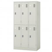 ナイキ 6人用スチールロッカー W900×D515×H1790mm オフィス収納 オフィスロッカー シリンダー錠式 更衣ロッカー オフィス家具
