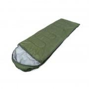 Sac de dormit cu gluga SZS11, 1 persoana, 200x70cm, verde