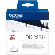 Brother DK-22214 Etiquetas de Papel Negro/Blanco Original