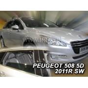 Deflektory komplet 4 ks pre PEUGEOT 508 , 2011-