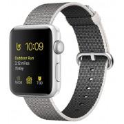 Apple Watch Series 2 38mm with Woven Nylon MNNX2 Silver/Pearl (ремешок из плетёного нейлона жемчужного цвета)