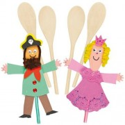 Wooden Spoons - 8 Plain Wooden Spoons in bulk for crafts. Spoon size: 24cm. Ideal to craft & decorate.