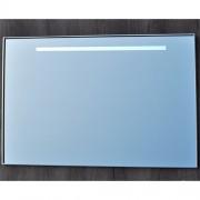 Badkamerspiegel Qmirrors Sanicare 70x100x3.5cm Chroom 1 Horizontale Geintegreerde LED Verlichting Sensor Lichtschakelaar Warm Wit