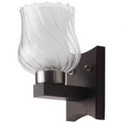 LeArc Designer Lighting Contemporary Glass Metal Wood Wall Light WL1919