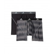 adidas Sport Performance Climalite Graphic 2-Pack Boxer Brief Sundown BlackBlackGrey