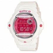 reloj digital estandar casio baby-g BG-169R-7D - blanco + rosa