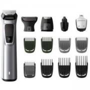 Тример за лице, коса и тяло Philips MG7720/15 Multigroom series 7000, 14 в 1, Технология DualCut, Водоустойчив с калъф, НАРУШЕНА ОПАКОВКА