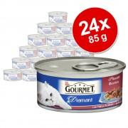 24 x 85 g Gourmet Diamant buey comida húmeda para gatos