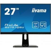 "Monitor TN LED iiyama 27"" B2791QSU-B1, WQHD (2560 x 1440), DVI, HDMI, DisplayPort, USB 3.0, Boxe, Pivot, 1 ms (Negru)"