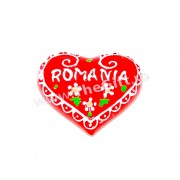 Magnet ceramic de frigider, inima Romania