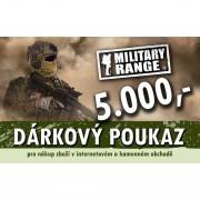 MILITARY RANGE | Dárkový poukaz TACTICAL 5000 Kč