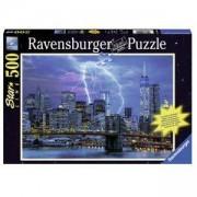Пъзел Ravensburger светещ, 500 елемента, Гръмотевици над Ню Йорк, 7014909