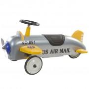 Retro Roller детска кола за бутане във форма на самолет, цвят сребрист