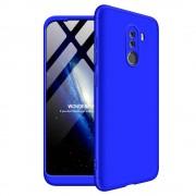 GKK 360 Protection telefon tok hátlap tok Első és hátsó tok telefon tok hátlap az egész testet fedő Xiaomi Pocophone F1 kék