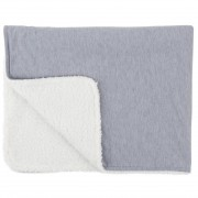 Paturica reversibila din tricot/fleece 90x70 cm Comfi Love Grey 844524 Children SafetyCare
