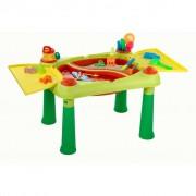 Keter Mesa de brincar Sand & Water vermelho e amarelo 178668