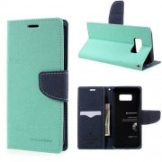 Mercury Pouzdro / kryt pro Samsung Galaxy S8 PLUS - Mercury, Fancy Diary Mint/Navy