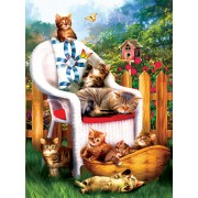 Puzzle SunsOut - Tom Wood: Mama's Cat Nap, 1.000 piese (63953)