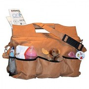 Mens Rugged Diaper Bag - Men and Moms Will Love the Large Main Compartment and the 7 Outside Compartments to Hold Everyt